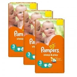 246 Couches Pampers Sleep & Play taille 3