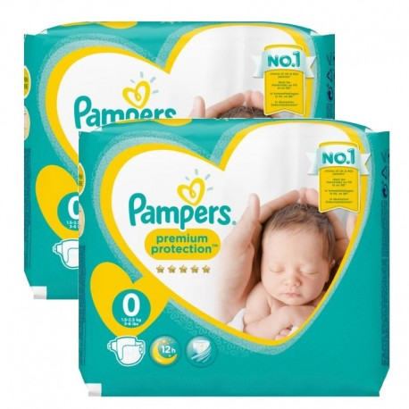 48 Couches Pampers new baby - premium protection taille 0 sur Sos Couches