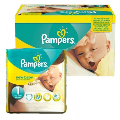 92 Couches Pampers new baby - premium protection taille 1 sur Sos Couches