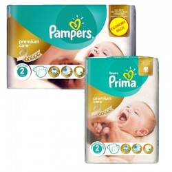 114 Couches Pampers new baby - premium protection taille 2