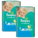 176 Couches Pampers Active Baby Dry taille 5 sur Sos Couches