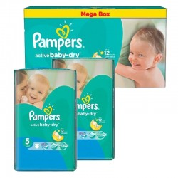 440 Couches Pampers Active Baby Dry taille 5