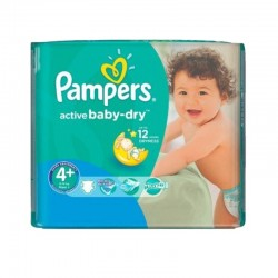 70 Couches Pampers Active Baby Dry taille 4+