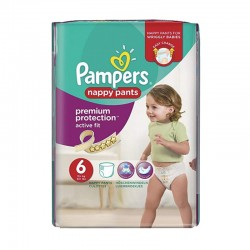 16 Couches Pampers Active Fit - Pants taille 6