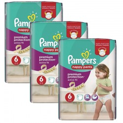 64 Couches Pampers Active Fit - Pants taille 6
