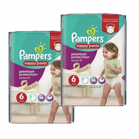28 Couches Pampers Active Fit - Pants taille 6 sur Sos Couches