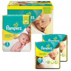 192 Couches Pampers new baby - premium protection taille 1
