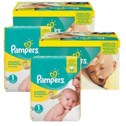 384 Couches Pampers new baby - premium protection taille 1