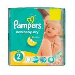 43 Couches Pampers New Baby Dry taille 2