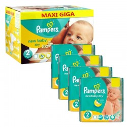 301 Couches Pampers New Baby Dry taille 2