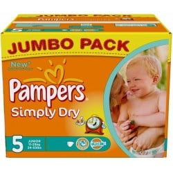 352 Couches Pampers Simply Dry 5