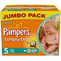 352 Couches Pampers Simply Dry 5 sur Sos Couches