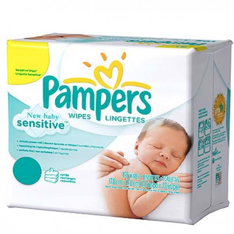Achat 528 lingettes b b pampers new baby sensitive sur sos couches - Couches pampers sensitive ...
