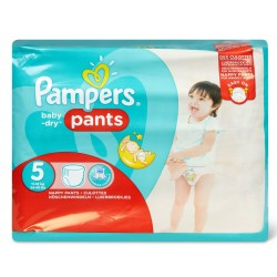 96 Couches Pampers Baby Dry Pants taille 5