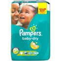 56 Couches Pampers Baby Dry taille 5+ sur Sos Couches