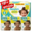 180 Couches Pampers New Baby Premium Protection taille 5 sur Sos Couches