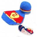 Premier ensemble nouveaux nés Choupinet Superman 6-18Mois sur Sos Couches