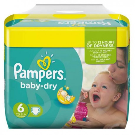 Achat 124 couches pampers baby dry taille 6 en promotion sur sos couches - Couches pampers baby dry ...