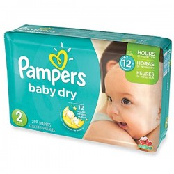290 Couches Pampers Baby Dry 2